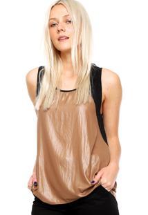 -33% Regata Calvin Klein Jeans Recortes Marrom 8bf1f0eba6