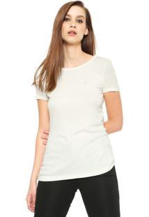 Blusa Ellus Logo Canelada Off-White