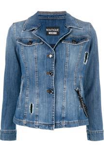 Boutique Moschino Jaqueta Jeans - Azul