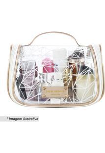Nécessaire De Viagem Transparente- Incolor & Branca-Jacki Design