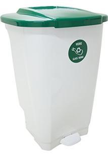 Lixeira Em Plastico T-Force Branco E Verde 100 Litros Tramontina 92814/201