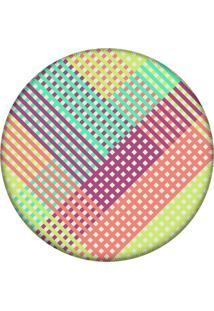 Tapete Love Decor Redondo Wevans Listras Multicolor 84Cm