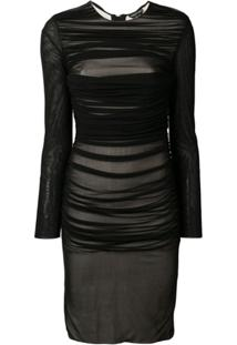 Tom Ford Vestido Midi Slim - Preto