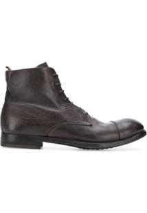 Officine Creative Ankle Boot 'Arbus' De Couro Com Cadarço - Marrom