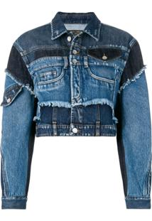 Dolce & Gabbana Jaqueta Jeans Com Patchwork - Azul