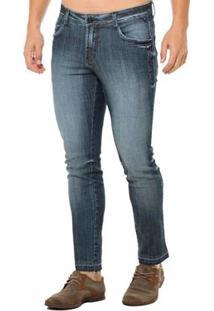 Calça Jeans Denuncia Skinny Low Masculina - Masculino-Azul