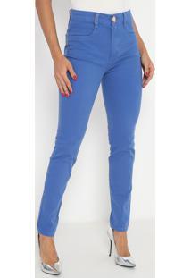 Calça Super High Second Skinny Com Bolsos - Azul- Lalança Perfume