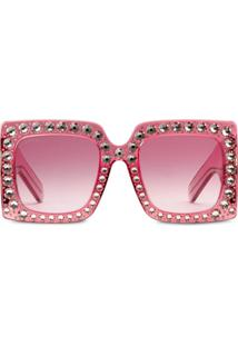 f80520528ef64 Gucci Eyewear Oversize Square-Frame Sunglasses - Rosa