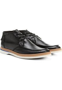 Bota Couro Cano Curto Shoestock Casual