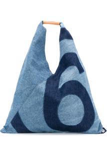 Mm6 Maison Margiela Japanese Medium Denim Bag - Azul