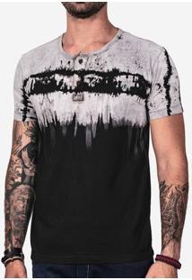 Camiseta Henley Tie-Dye 101698