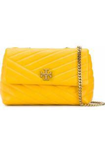 Tory Burch Bolsa Tiracolo Kira Com Logo E Efeito Matelassê - Amarelo