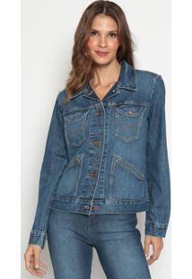 Jaqueta Jeans Com Puídos- Azulwrangler