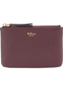 Mulberry Porta-Moedas Com Zíper - Vermelho
