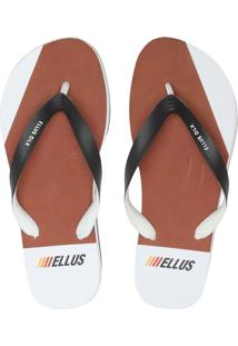 Chinelo Ellus Lettering Caramelo