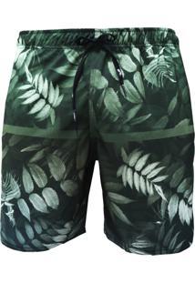 Shorts Elástico Alkary Floresta Verde.
