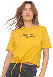 Camiseta Dimy Amarração Amarela