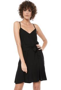 Vestido Mercatto Curto Amarração Preto