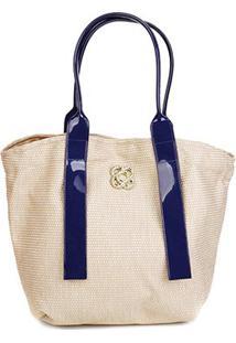Bolsa Petite Jolie Shopper Jill Feminina - Feminino-Azul Escuro