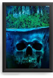 Quadro Decorativo Skull Sea