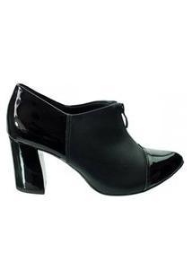 Sapato Ankle Boot Salto Grosso Piccadilly Preto 746003