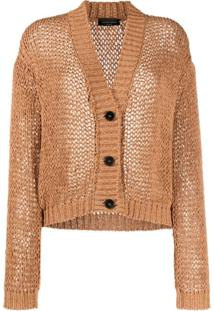 Roberto Collina Oversized Fit Cardigan - Marrom