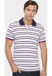 Camisa Polo Colcci Piquet Listras Fio Tinto Masculina - Masculino