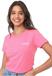 Blusa Aeropostale Lettering Neon Pink