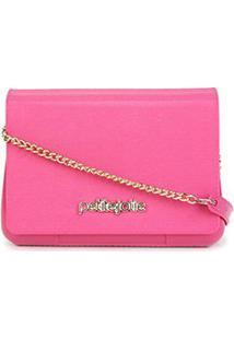 Bolsa Petite Jolie Mini Bag One Alça Corrente Feminina - Feminino-Pink