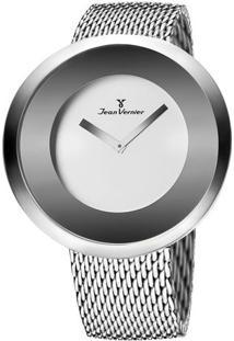 Relógio Analógico Com Relevo Jv00080A- Prateado- Jeajean Vernier