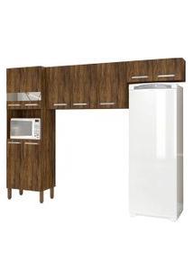 Cozinha Compacta Versalhes 9 Portas Savana - Kit'S Paraná