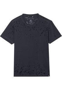 Camiseta John John Basic Devore Dark Grey Masculina (Cinza Escuro, M)