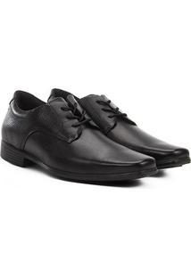 Sapato Social Couro West Coast Zurique Masculino - Masculino-Preto