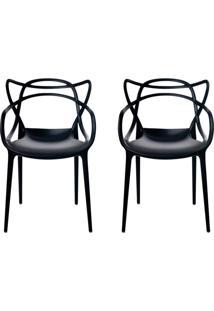 Conjunto Com 2 Cadeiras Allegra Preta
