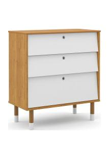 Gaveteiro Up Freijó/Branco Soft/Eco Wood Matic Móveis