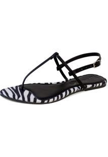 Rasteira Mercedita Shoes Zebra