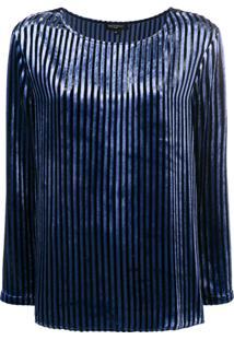 Antonelli Blusa Listrada - Azul