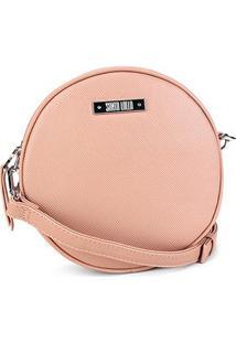 Bolsa Santa Lolla Mini Bag Redonda Feminina - Feminino-Bege
