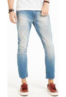 Calça Jeans Docthos Fit Cropped Masculina - Masculino-Azul