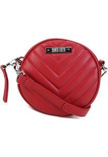 Bolsa Santa Lolla Mini Bag Mestiço Matelassê Feminina - Feminino-Vermelho
