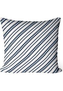 Capa De Almofada Love Decor Avulsa Decorativa Listras Azul Marinho