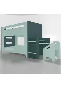 Conjunto Lumi - Beliche+Escrivaninha Verde Timber