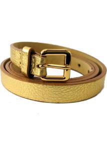 Cinto Cintos Exclusivos Fino Dourado