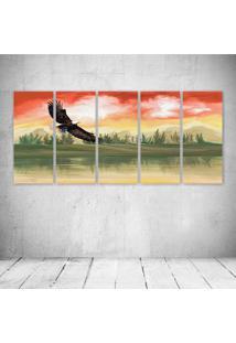 Quadro Decorativo - Digital Art - Composto De 5 Quadros - Multicolorido - Dafiti