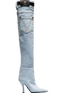 Versace Bota Over The Knee - Azul