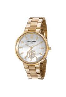 Relógio Analógico Seculus Feminino - 77022Lpsvds1 Dourado