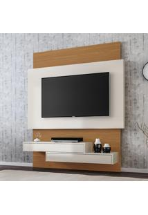 Painel Para Tv Suspenso Tb120 Off White/Freijo - Dalla Costa