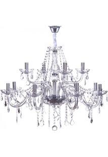 Lustre Maria Thereza Para 12 Lâmpadas - Transparente