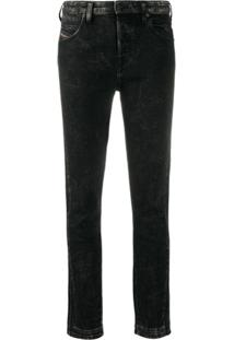 Diesel Calça Jeans Slim Babhila - Preto