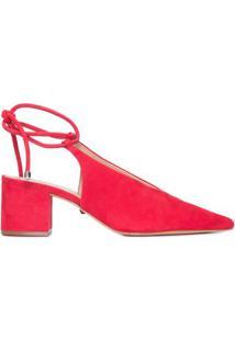 Sapato Slingback Amarração Schutz - Vermelho